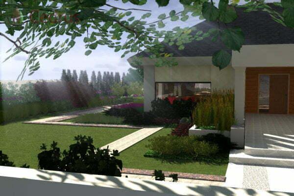 Ogród nowoczesny k. Wejherowa