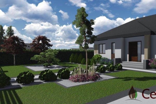 Ogród nowoczesny w Łubowie