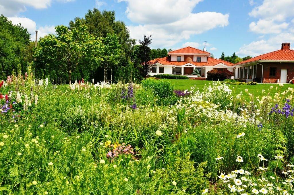 Ogród przy rezydencji