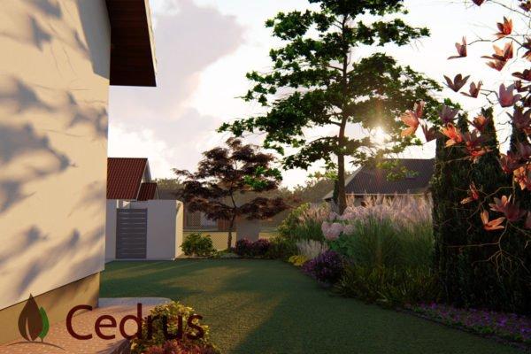 Ogród z elementami w stylu wschodnim 3