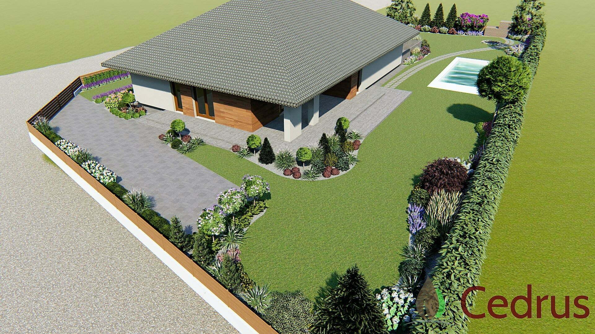 Ogród z basenem 9